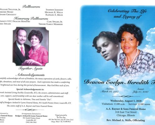 Evelyn M Tregre Obituary