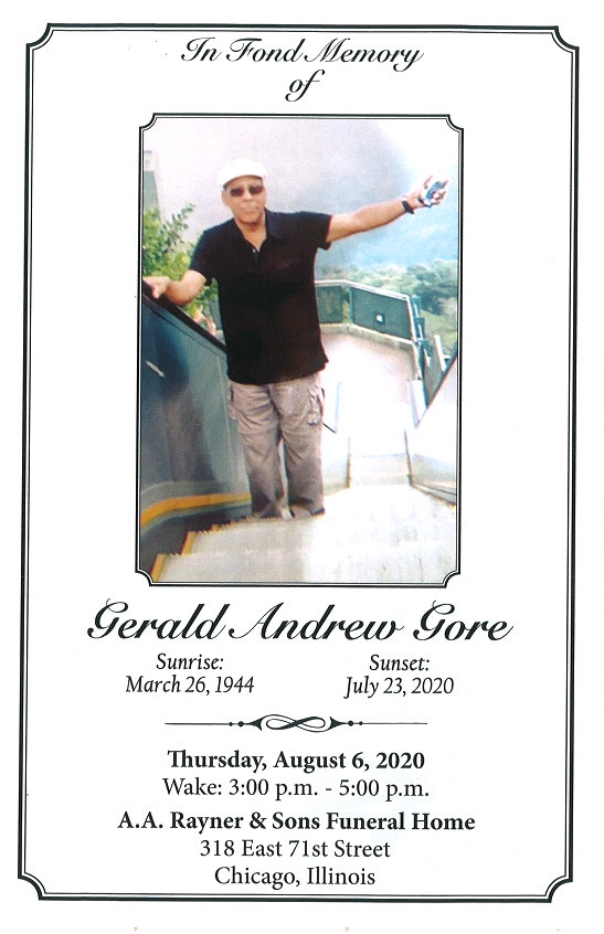 Gerald A Core Obituary