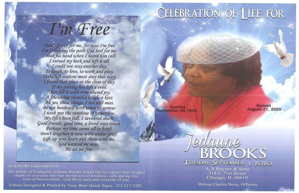 Jedaune Brooks Obituary