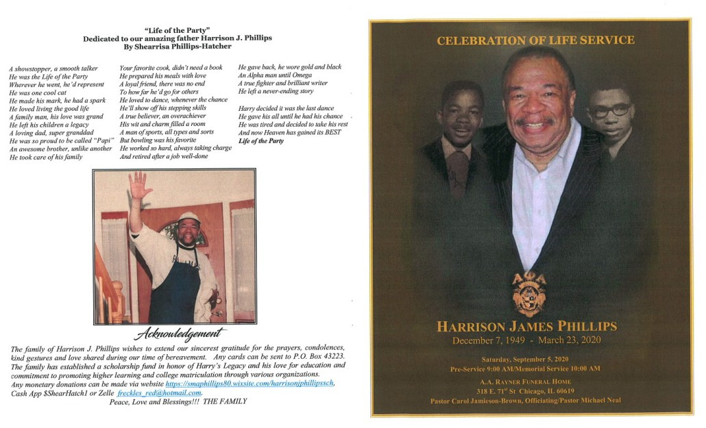 Harrison J Phillips Obituary