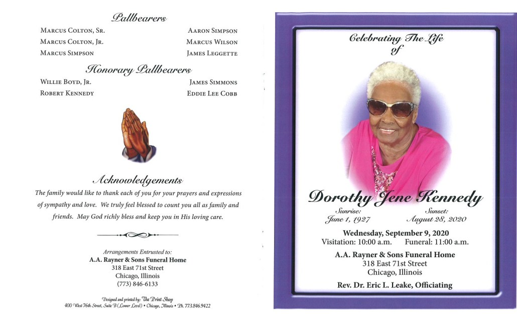 Dorothy J Kennedy Obituary