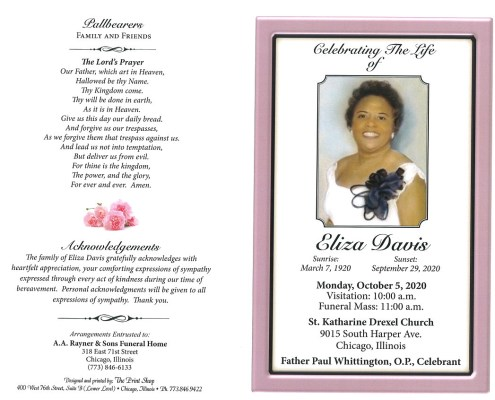 Eliza Davis Obituary