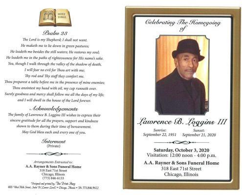Lawrence B Loggins III Obituary