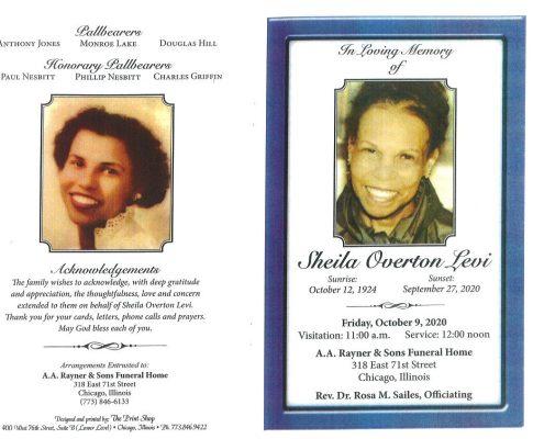 Sheila O Levi Obituary