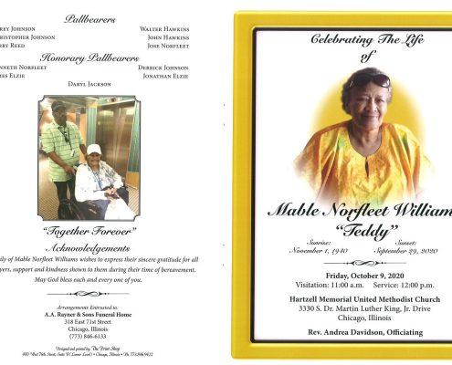 Mable N Williams Obituary