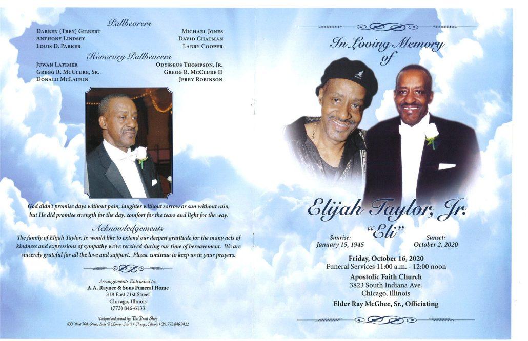 Elijah Taylor Jr Obituary
