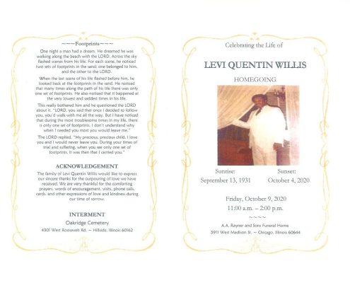 Levi Q Willis Obituary