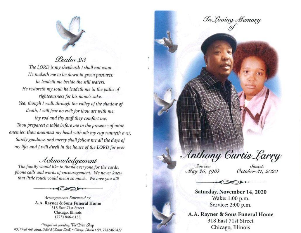 Anthony C Larry Obituary