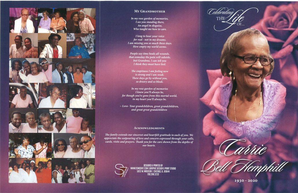 Carrie B Hemphill Obituary