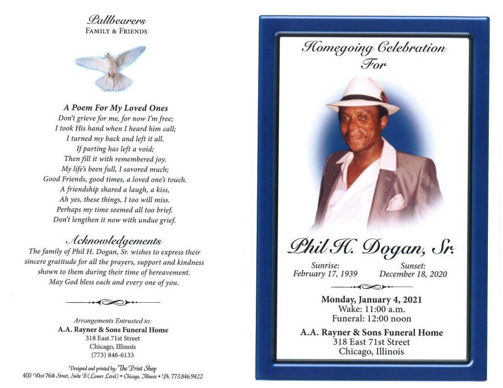 Phil H Dogan Sr Obituary