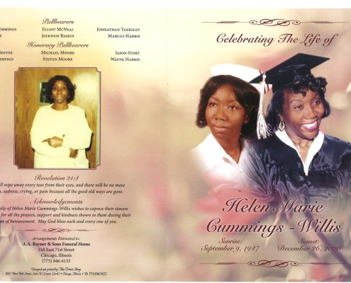 Helen M Cummings Willis Obituary