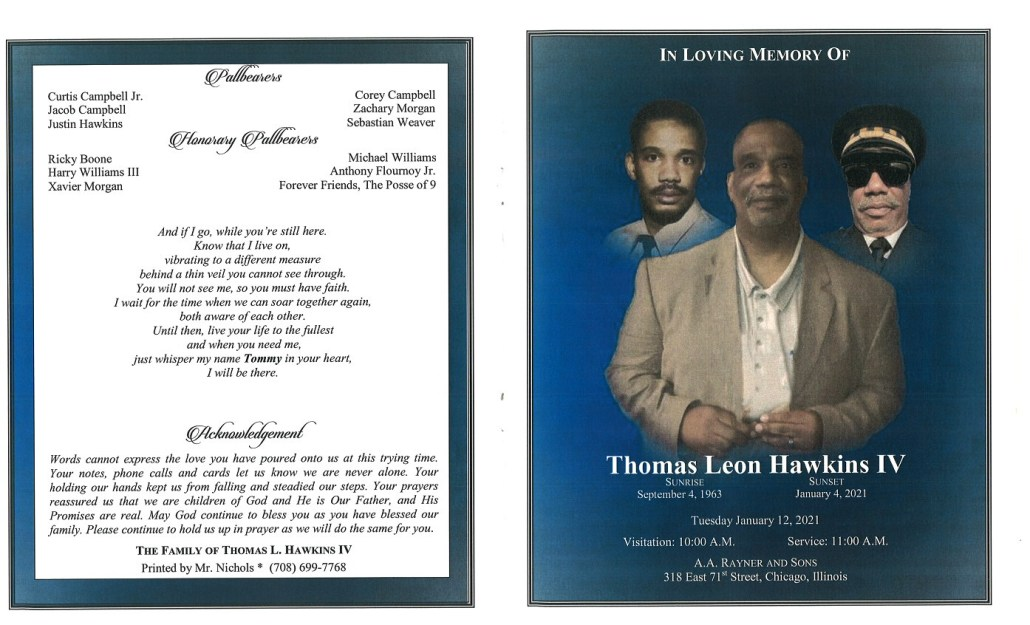 Thomas L Hawkins IV Obituary