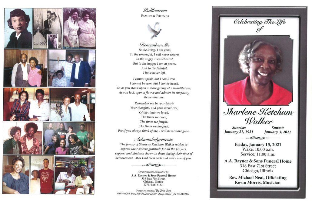 Sharlene K Walker Obituary
