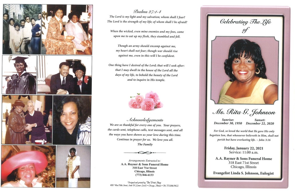 Rita E Johnson Obituary