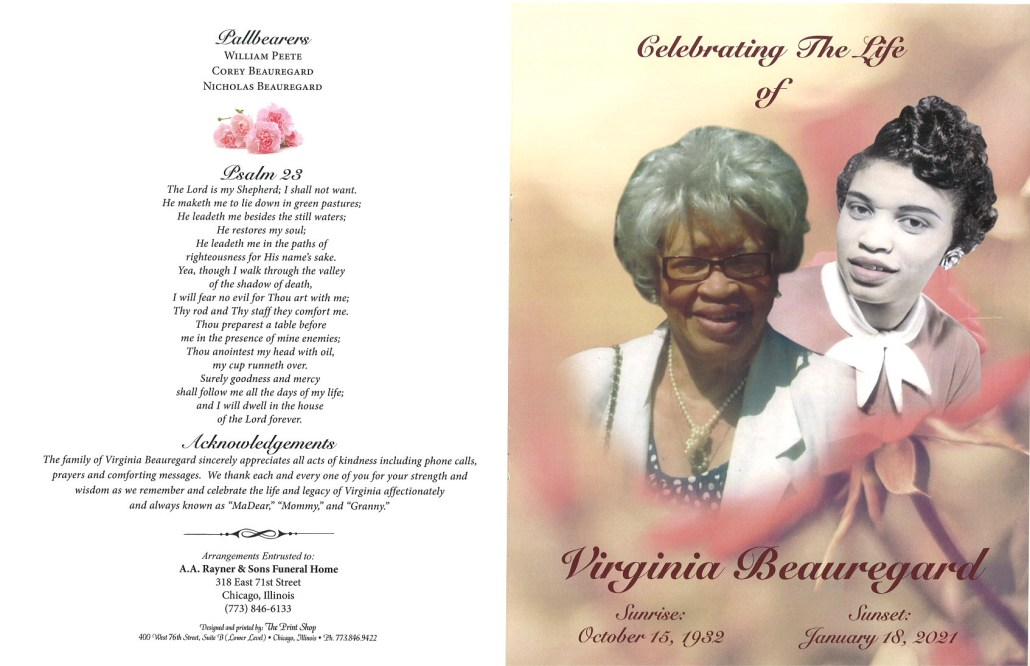 Virginia Beauregard Obituary