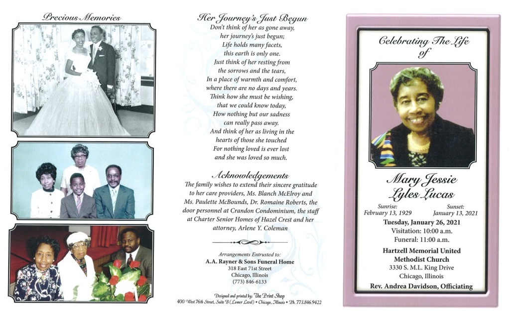 Mary J L Lucas Obituary