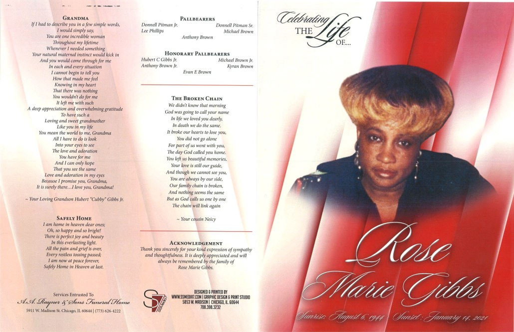 Rose M Gibbs Obituary