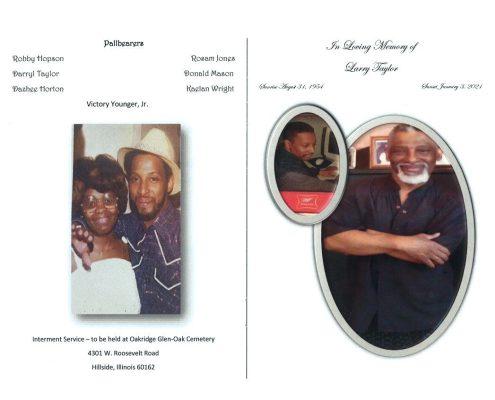 Larry Taylor Obituary