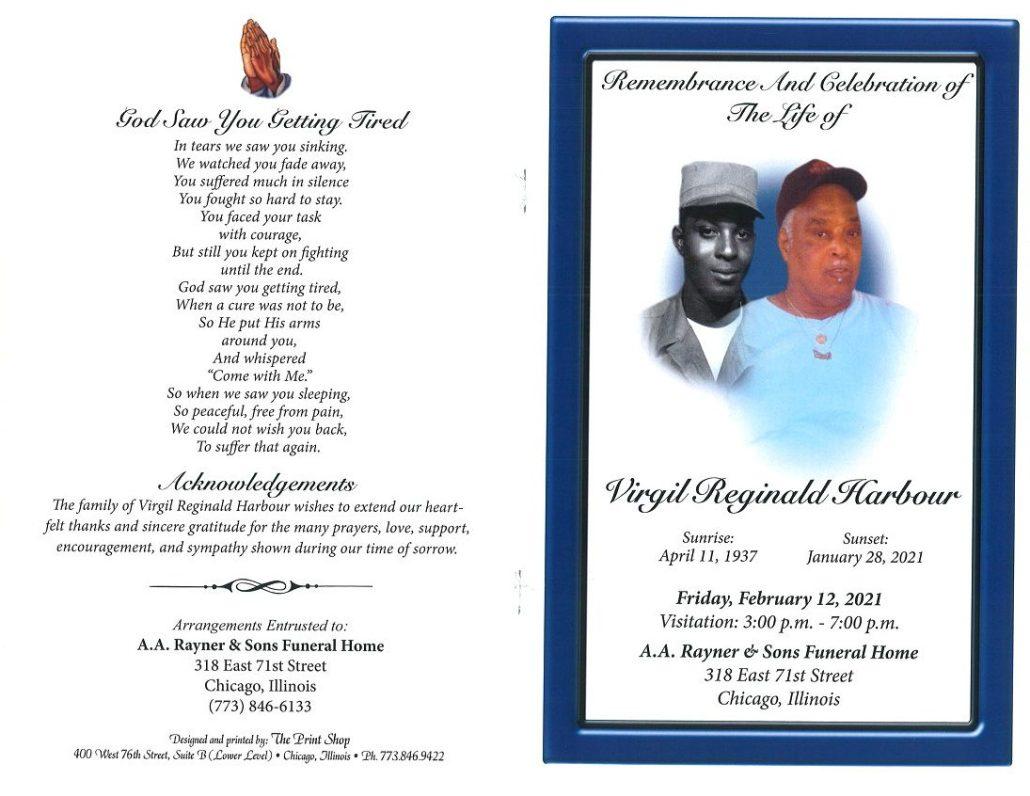 Virgil R Harbour Obituary