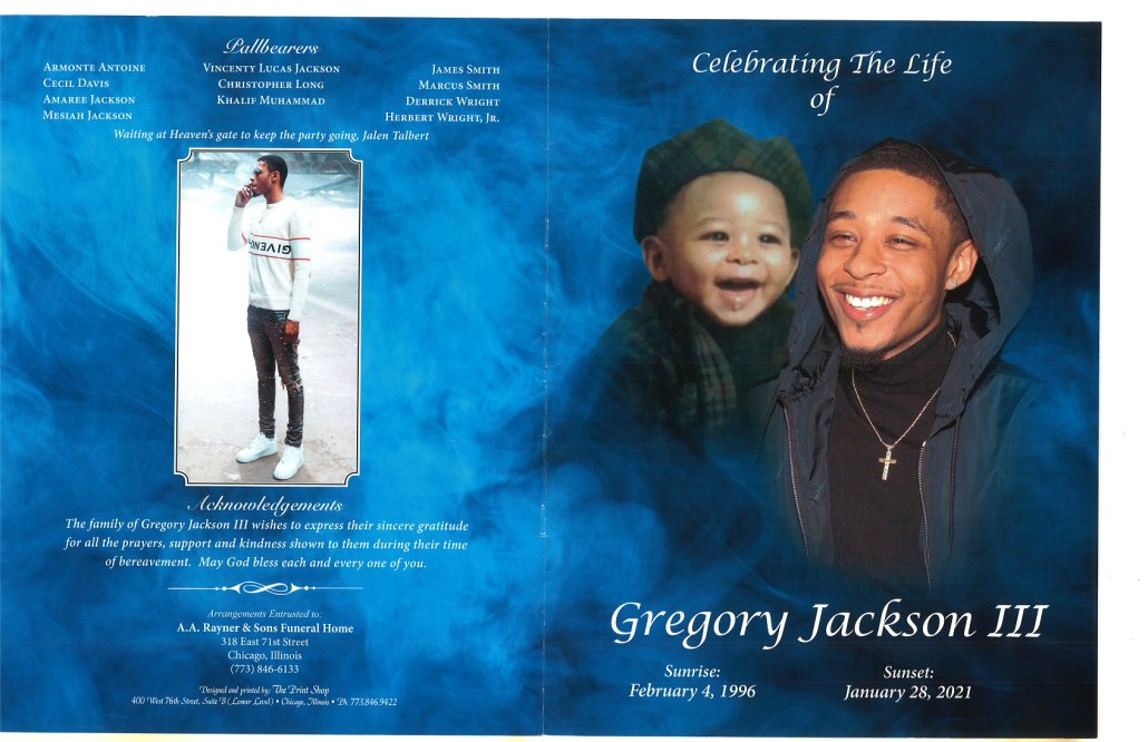 Gregory Jackson III Obituary