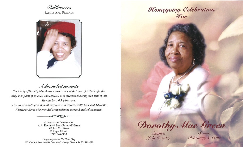 Dorothy Mae Green Obituary