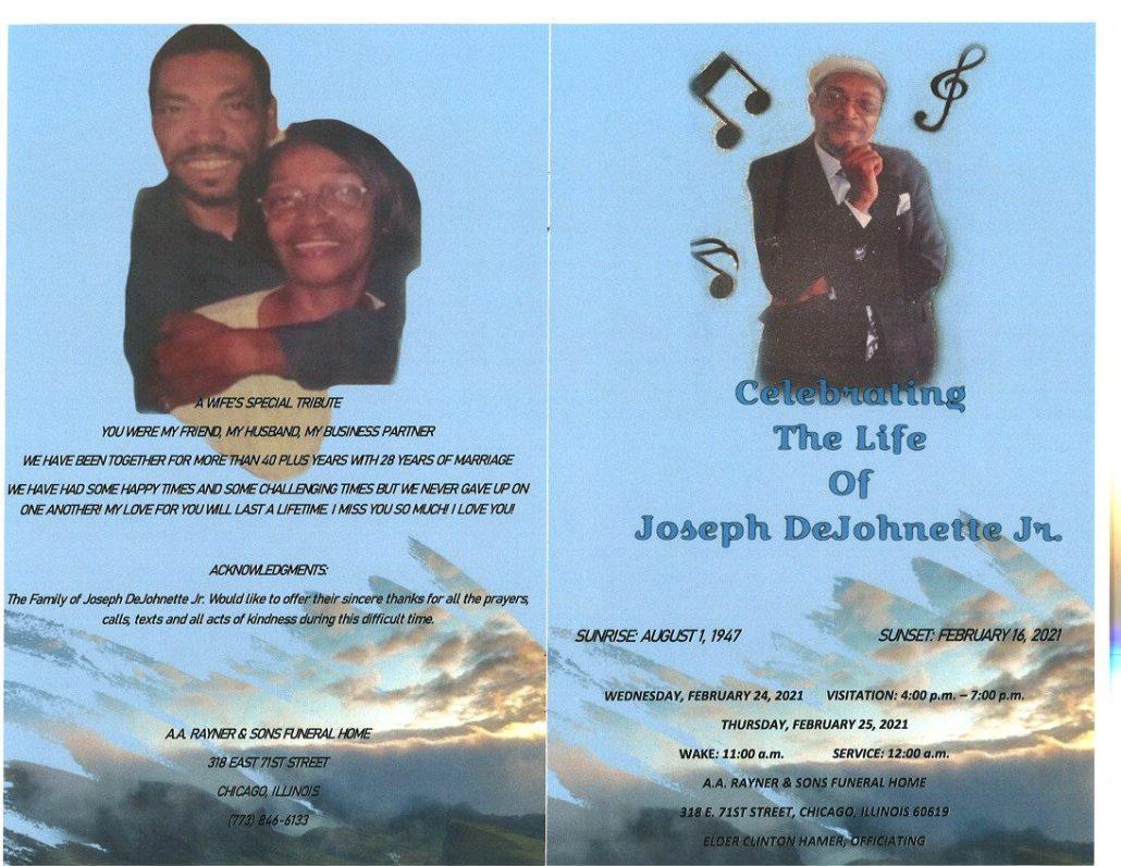 Joseph Dejohnette Jr Obituary
