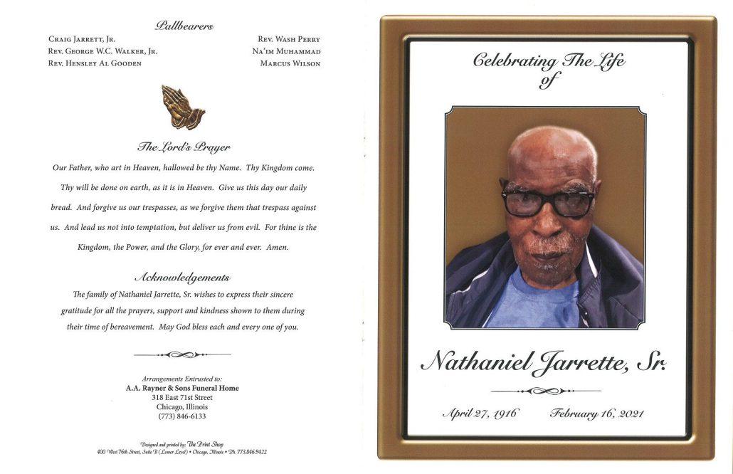 Nathaniel Jarrette Sr Obituary