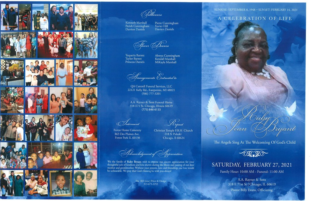 Ruby Jean Bryant Obituary