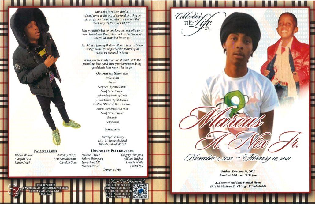 Marcus A Nix Jr Obituary