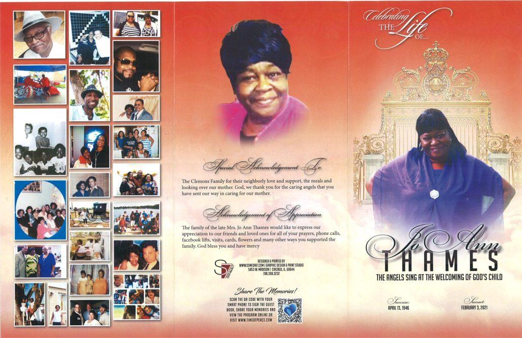 Jo Ann Thames Obituary