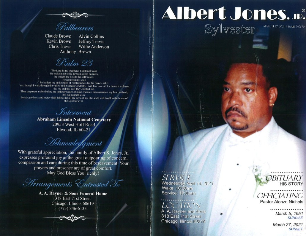 Albert Jones Jr Obituary