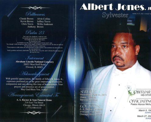Albert Jones Jr Obituary