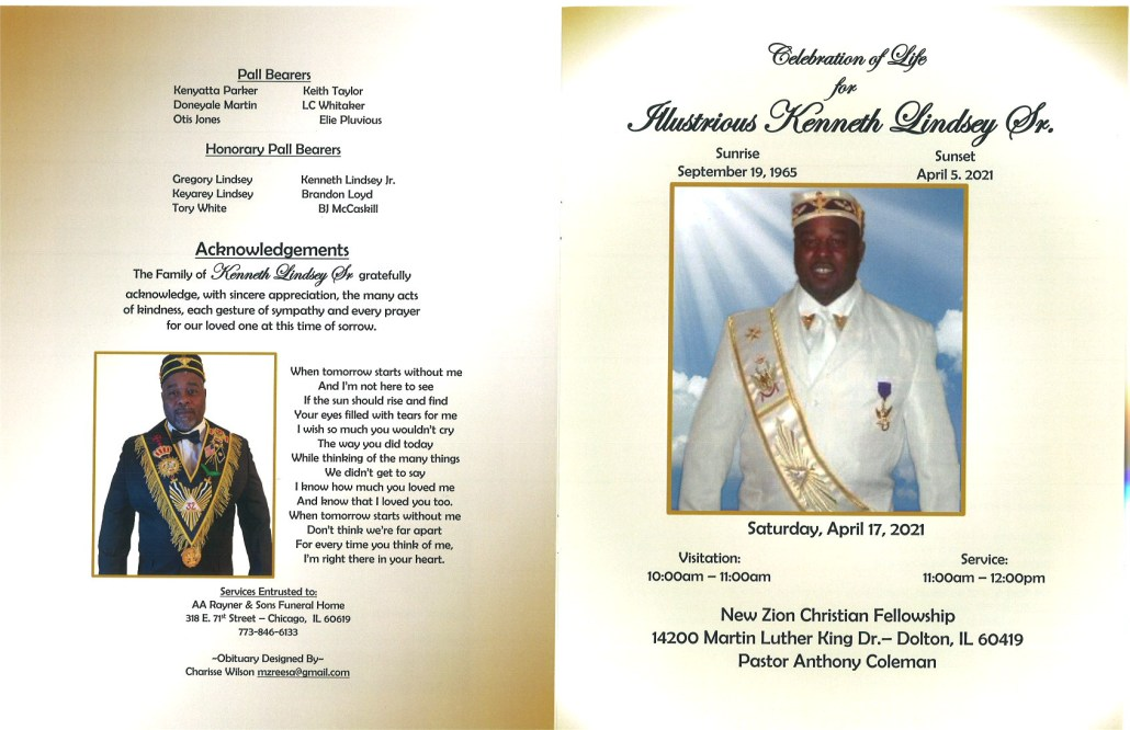 Kenneth Lindsey Sr Obituary