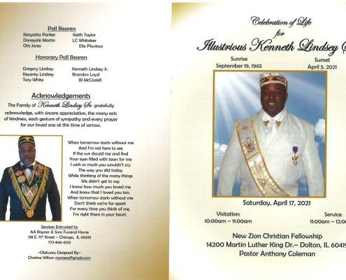 Kenneth Lindsey Sr Obituary