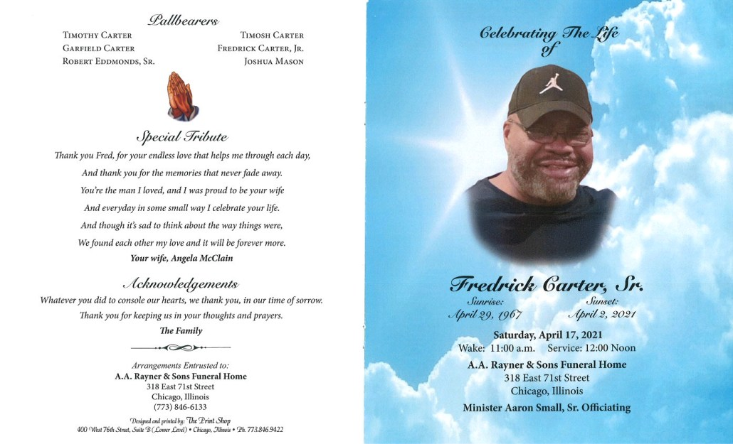 Fredrick Carter Sr Obituary