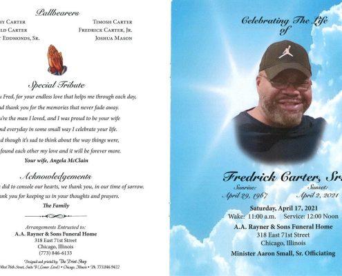 Fredrick Carter Sr Obituary