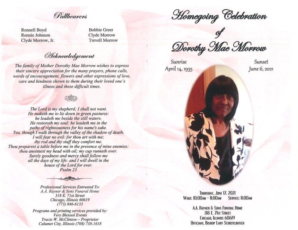 Dorothy M Morrow Obituary