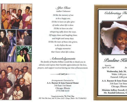 Pauline Killian Obituary