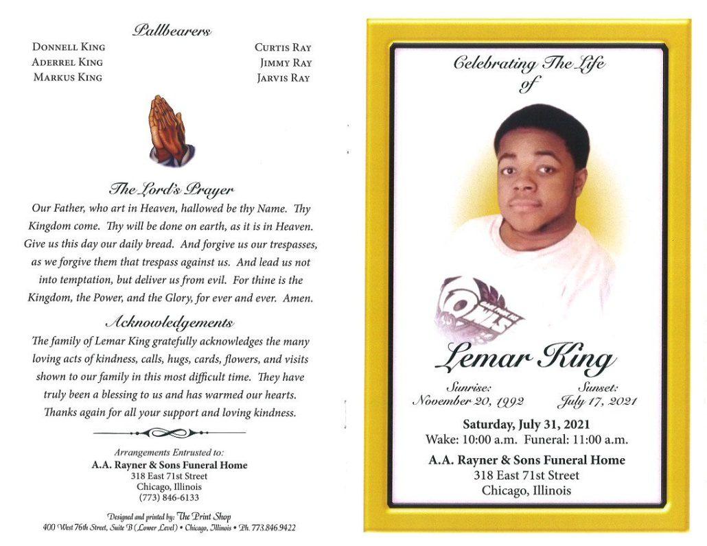 Lemar King Obituary