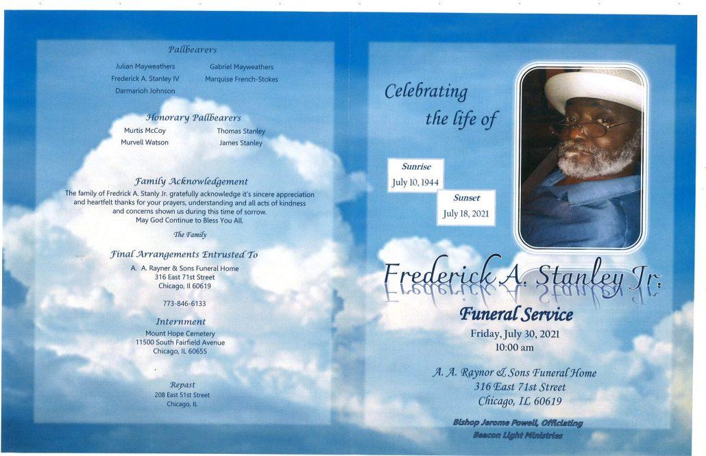 Frederick A Stanley Jr Obituary