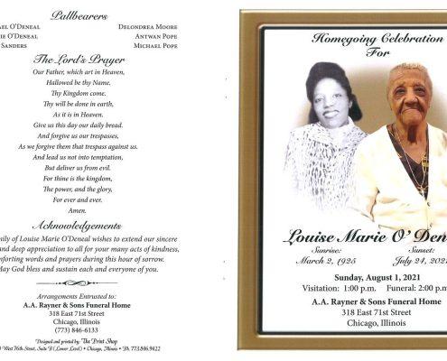 Louise M Odeneal Obituary