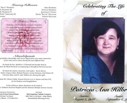 Patricia A Hilbring Obituary