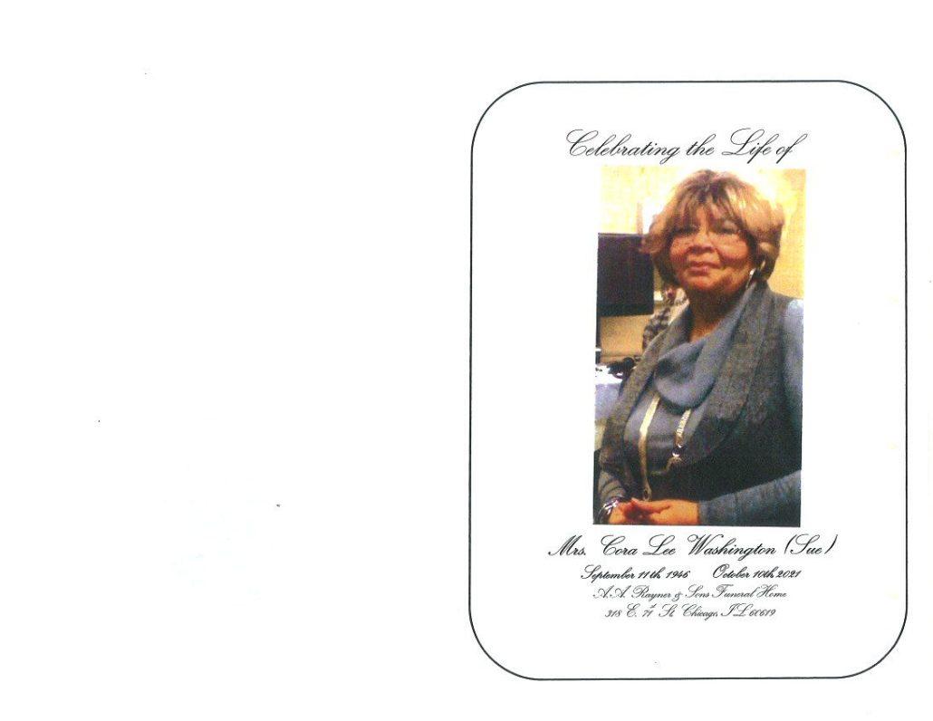 Cora L Washington Obituary