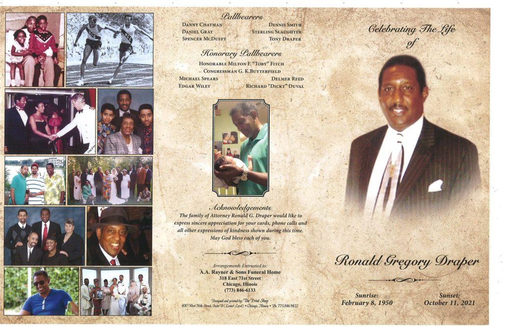 Ronald G Draper Obituary