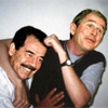 Saddam en Bush zijn vriendjes