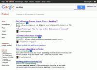 Google search voor aardling