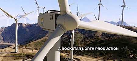 Gigantische windfarms in de bergen