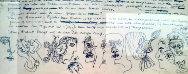 Hugo Claus handschrift