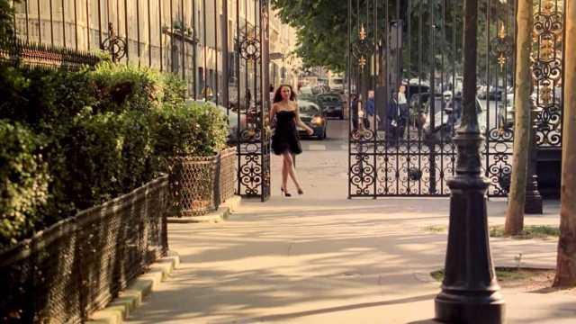 Filmen in Parc Monceau voor Dior