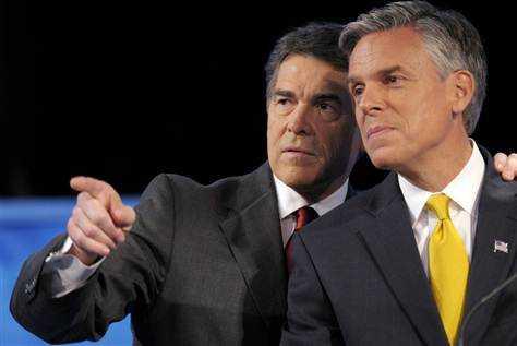 Rick Perry en John Huntsman